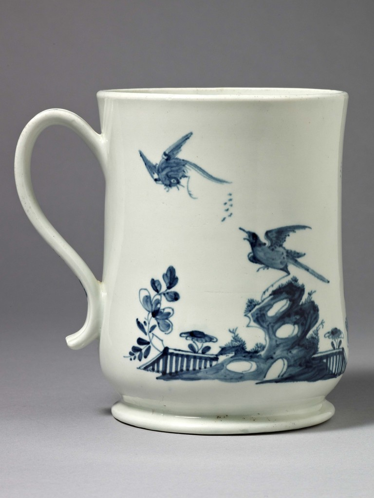 An extremely fine early Worcester Baluster Shaped Mug