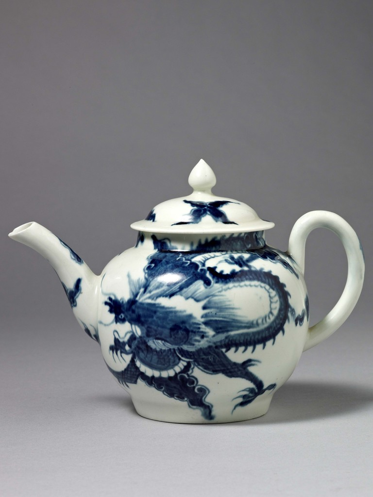 An Early Worcester Teapot and Cover