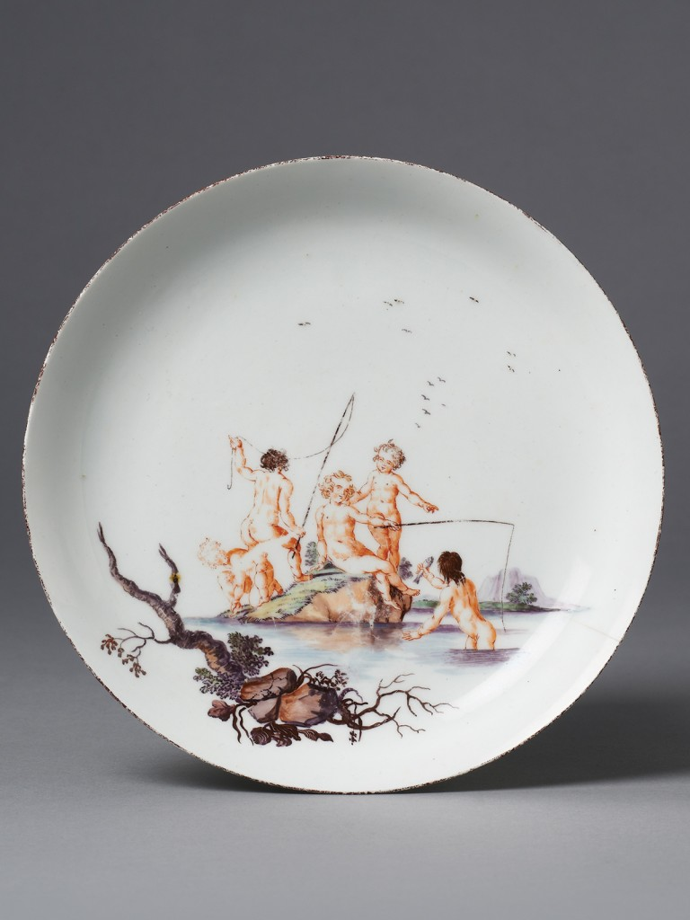 An extremely rare Chelsea Saucer Dish