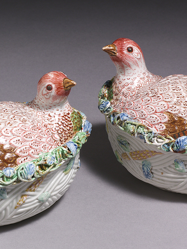 English Porcelain 752 Worcester Partridge tureens