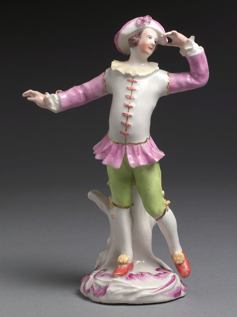 A rare Derby figure of a Dancer or Actor