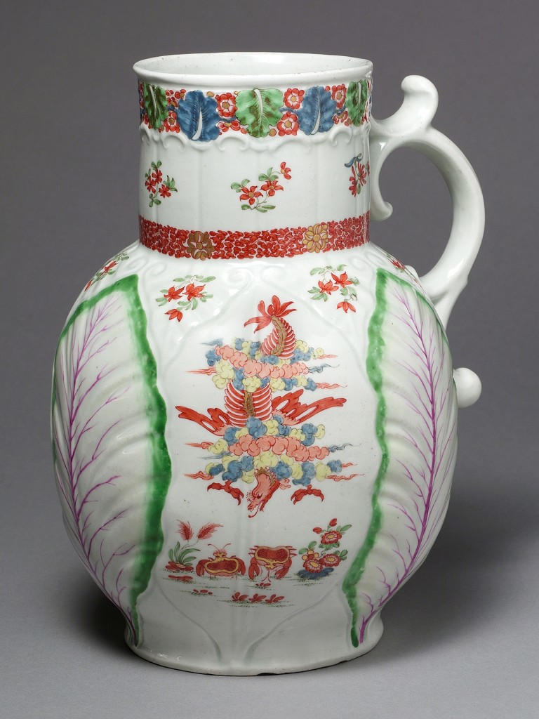 A very fine large first period Dr. Wall Worcester Dutch Jug