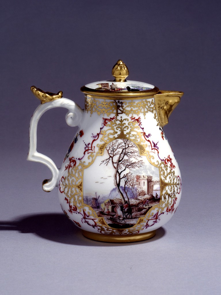 An extremely rare Meissen covered Milk Jug