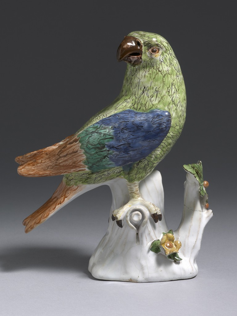 A very rare French Faience, probably Sceaux Parrot