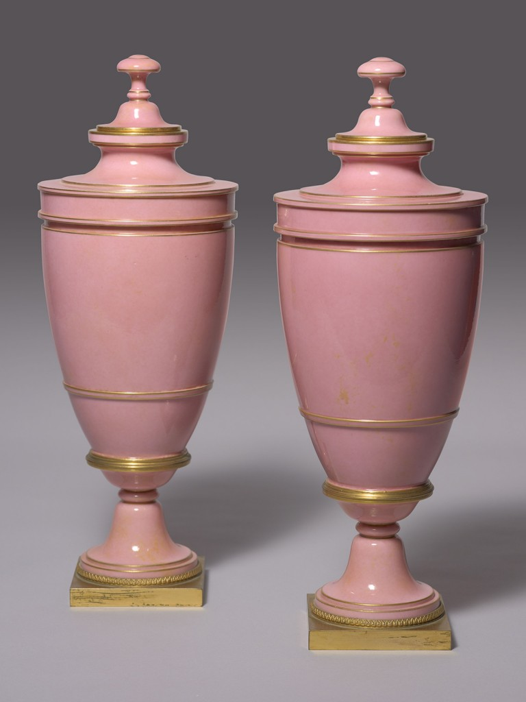 The Pair of Sèvres Vases Delafosse Fond Rose