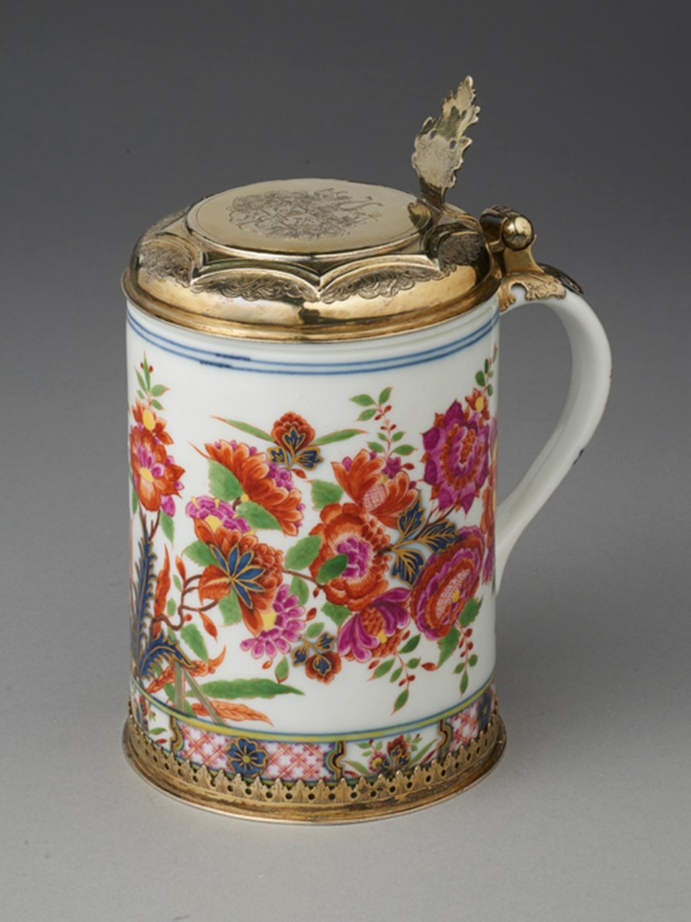 A rare and Documentary Silver-Mounted Meissen Tankard