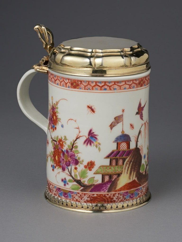 Early Meissen Tankard painted by Stadler (needs text)