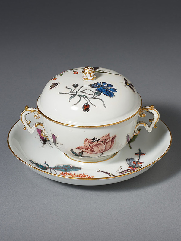 Meissen Ecuelle Flowers and Insects