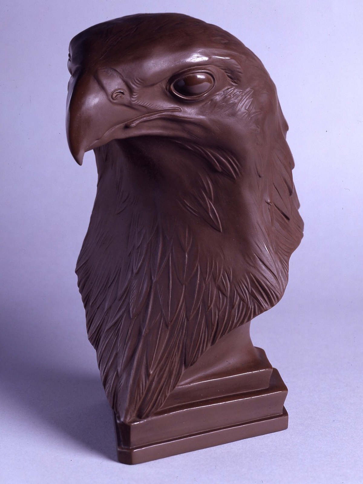 A very rare Meissen Böttger stoneware model of an American Bald-headed Eagle