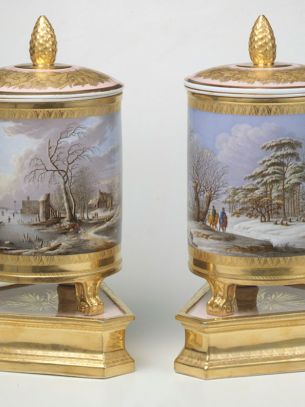 Pair of Berlin Covered Sorbet Jars or Coolers