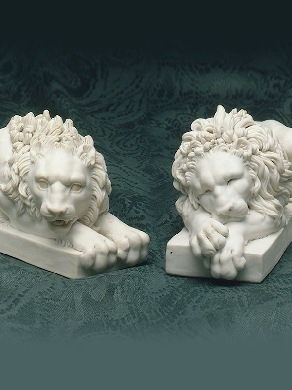 Pair of Volpato Lions after Canova