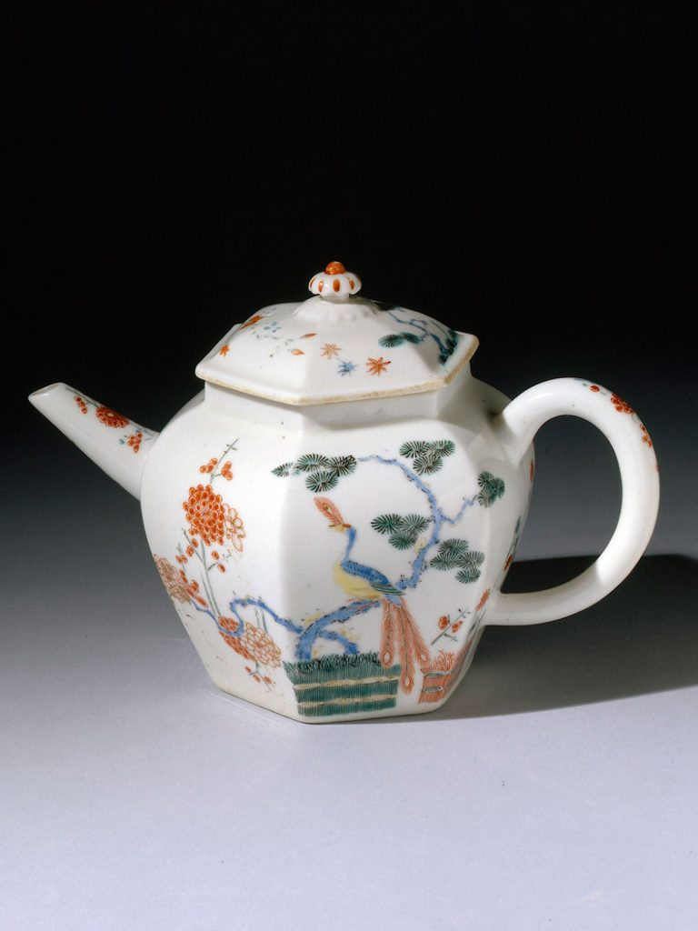 Chelsea Hexagonal Teapot and Cover circa 1749-52