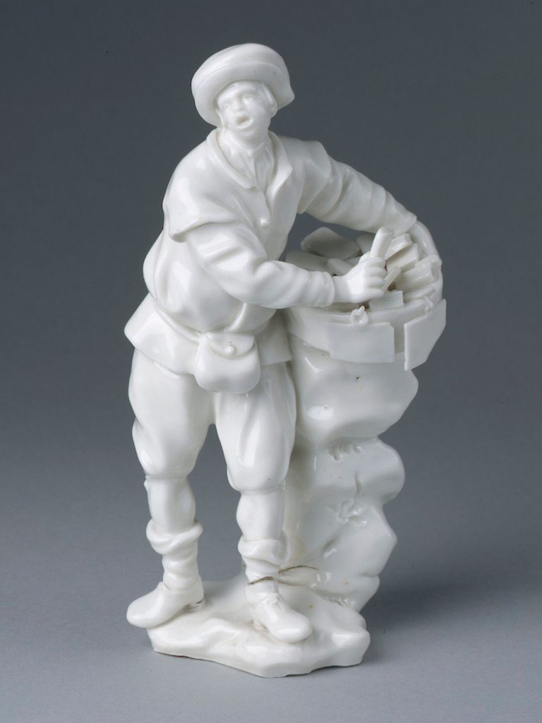 Capodimonte Figure modelled by Gricci of a Tradesman circa 1750