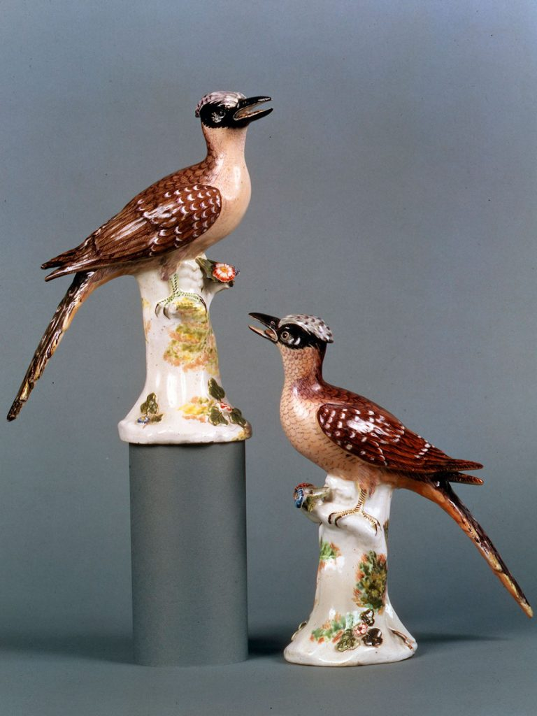 Pair of Chelsea Greater Spotted Cuckoos, from George Edwards's Natural History of Uncommon Birds circa 1749-52