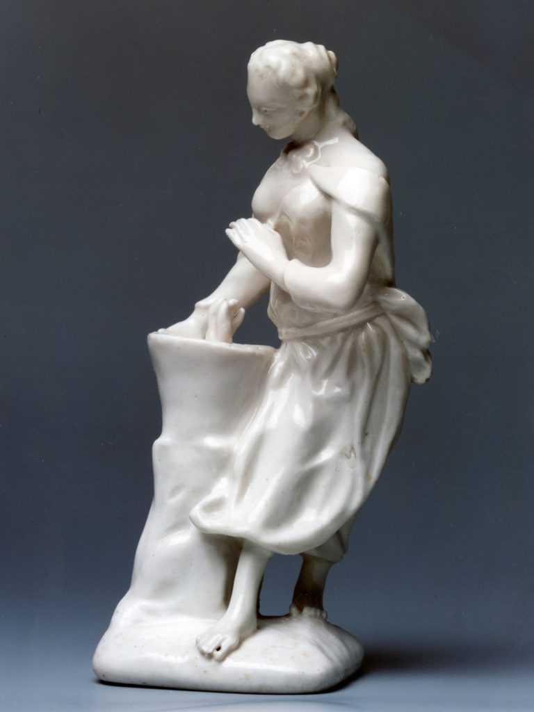 White Girl in a Swing Female Figure circa 1749-51