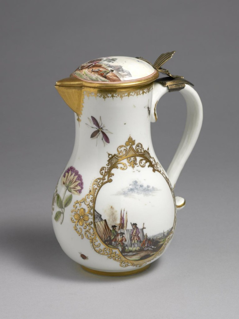 Meissen Jug and hinged cover
