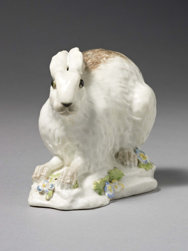Chelsea Porcelain Model of a Leveret Hare seated on its haunches