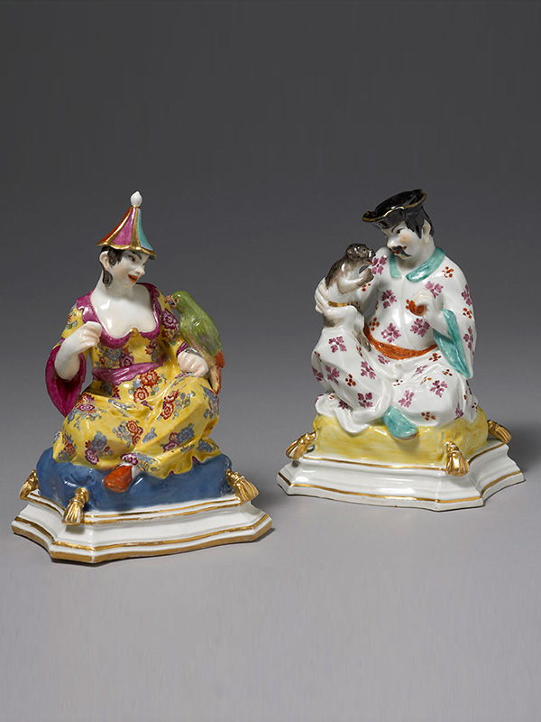 Pair of Meissen Perfume Burners