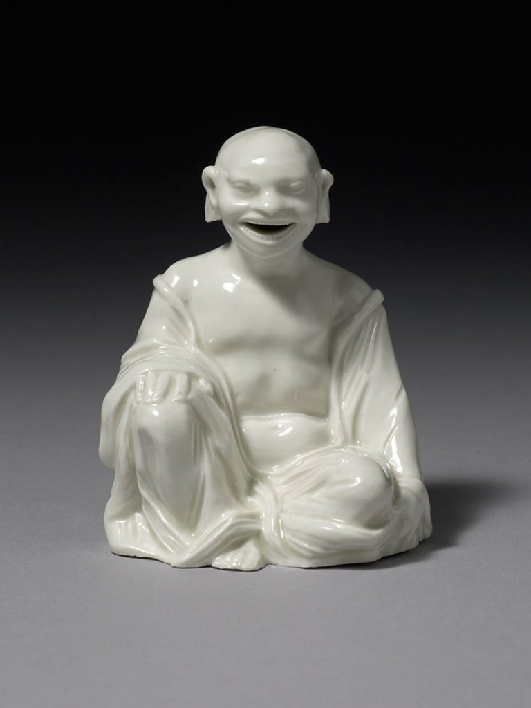 Meissen Bottger Porcelain model of a seated Chinese Pagoda or Magot