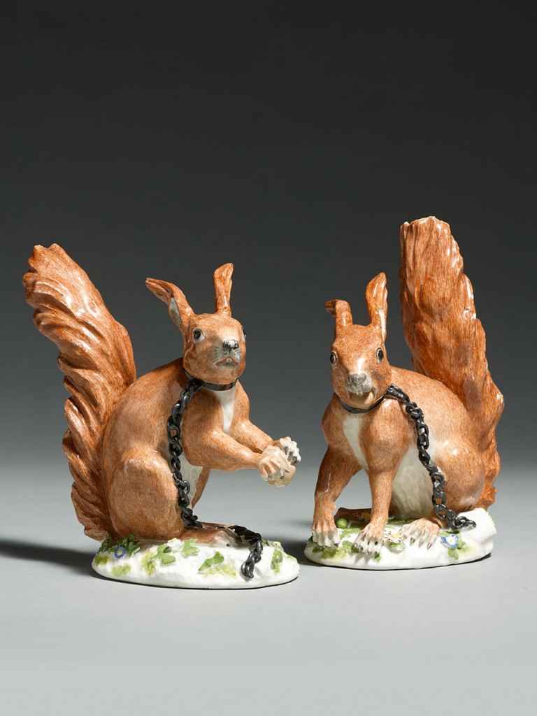 Meissen Squirrels modelled by J.J.Kaendler