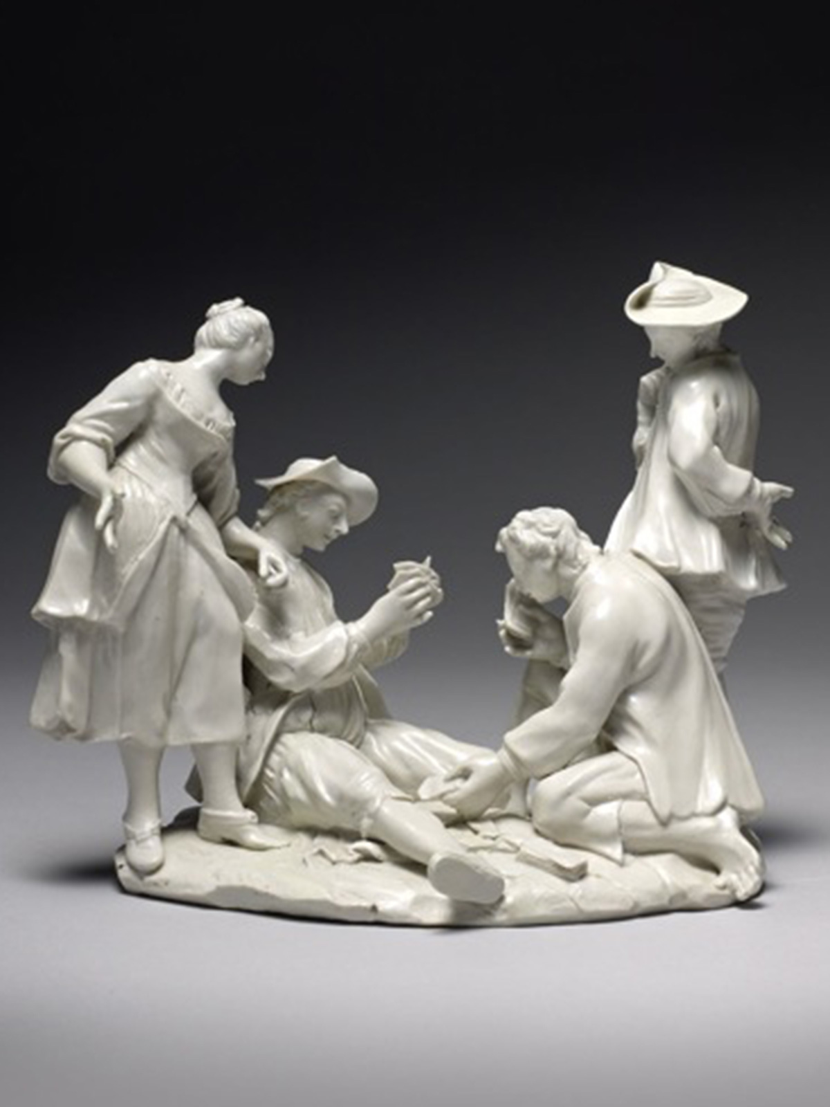 Doccia Figural Group of Card Players