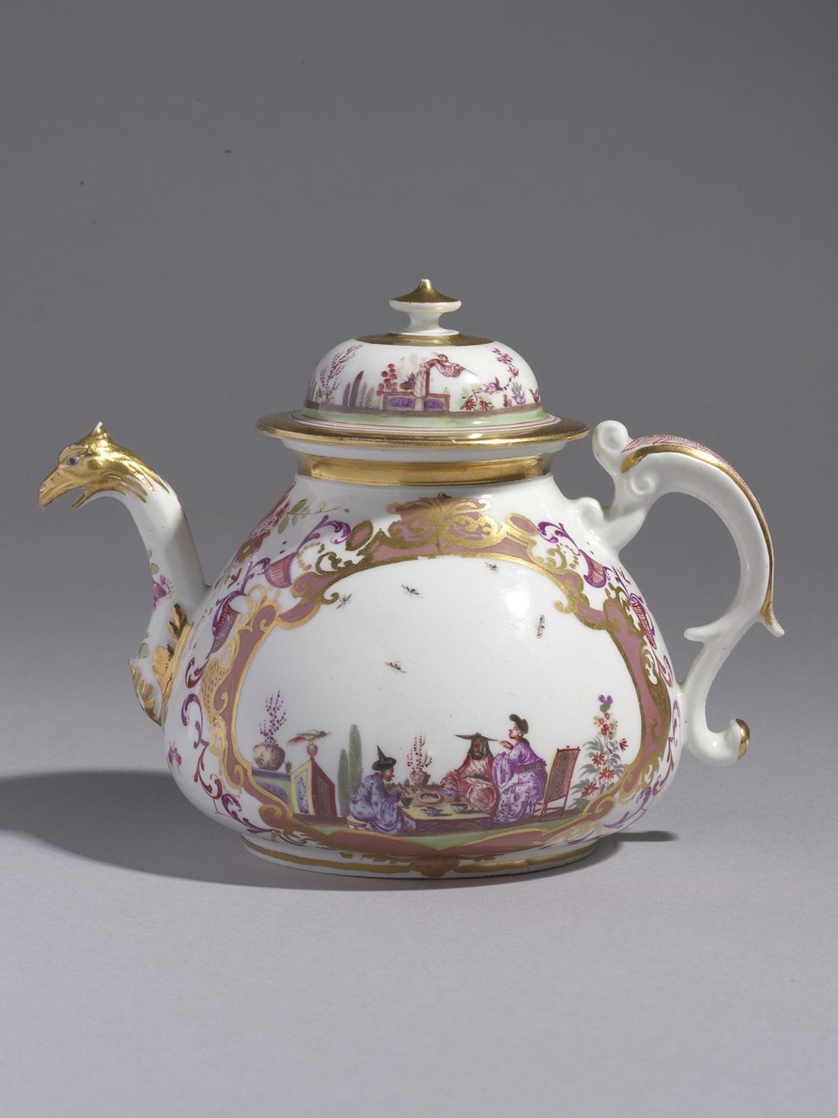 Meissen Teapot and Cover of early silver shape