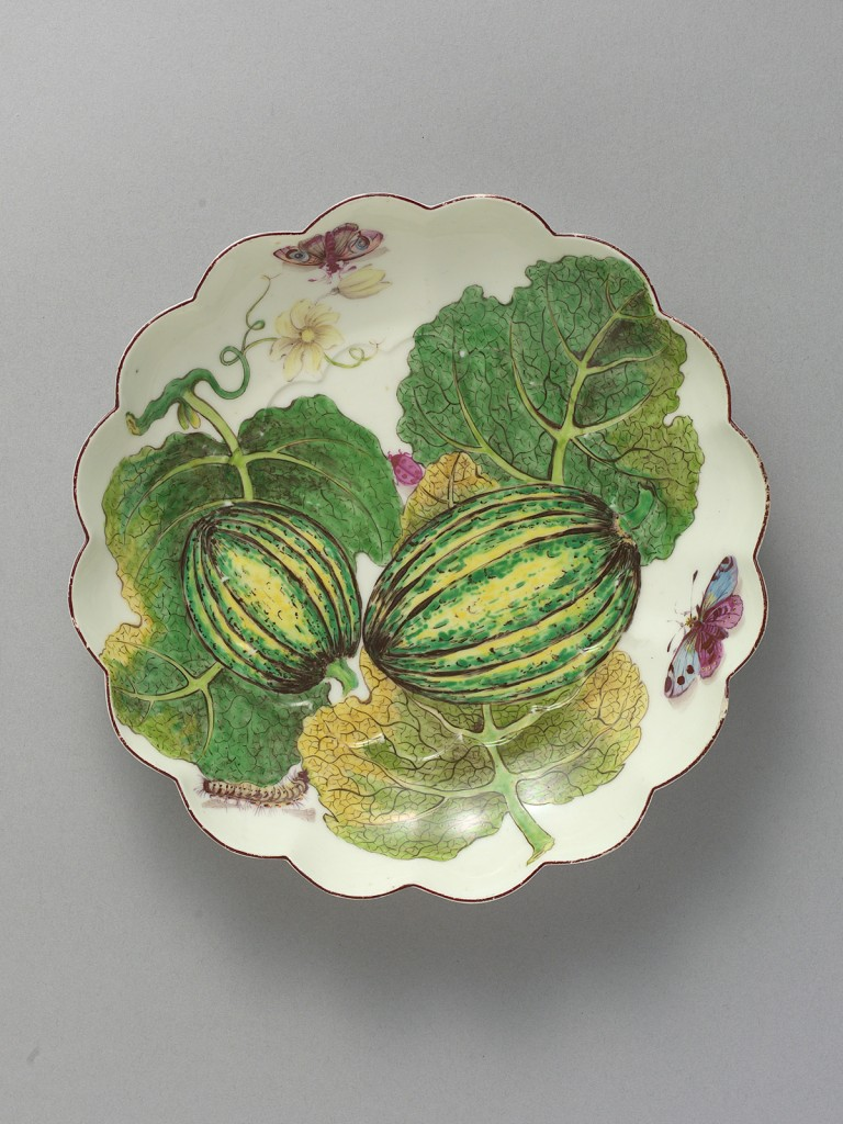 Chelsea Hans Sloane Botanical Circular Dish painted with Melons