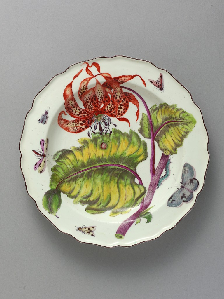 Chelsea Hans Sloane Botanical Deep Soup Plate, painted with a Tiger Lilly