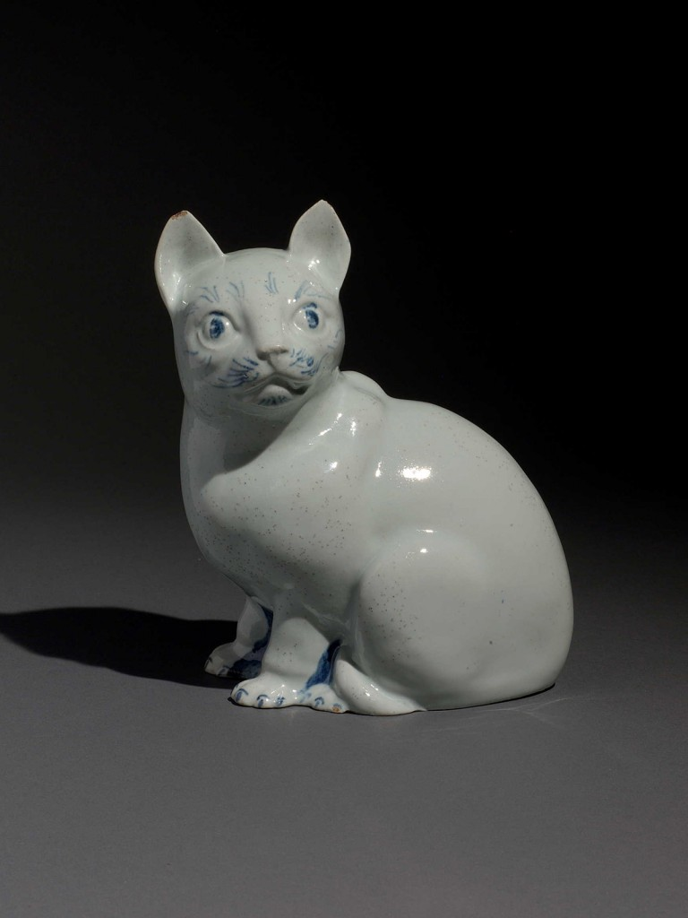 Large Limehouse model of a seated Cat