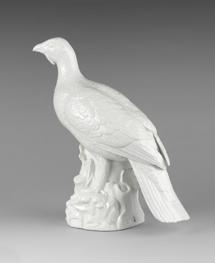 A Very Large Meissen Model Of A Capercaillie