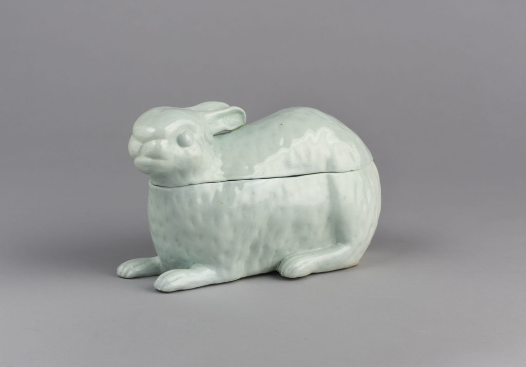 Hare Tureen and Cover, London Porcelain of Nicholas Crisp at Vauxhal